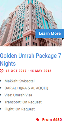 Golden Umrah Package 7 Nights