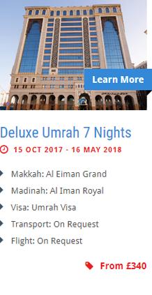 Deluxe Umrah 7 Nights
