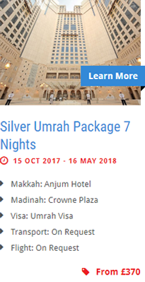 Silver Umrah Package 7 Nights