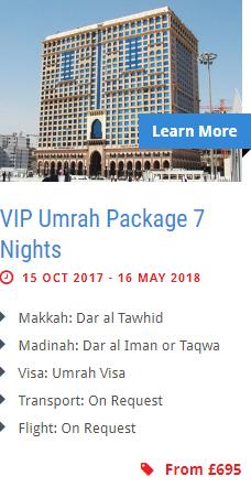 VIP Umrah Package 7 Nights