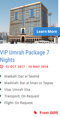 VIP Umrah Package 7 Nights