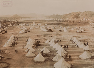 Turkish troops at their camp at Medina