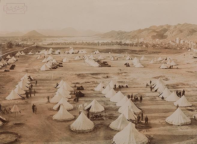 Turkish troops at their camp at Medina