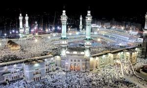 Hajj pilgrimage to Mecca, Al Haram Mosque and Kaaba Saudi Arabia