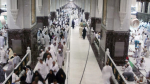 Muslim pilgrims walk at Al-Safa and Al-Marwah during the annual haj pilgrimage in Mecca